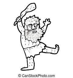 Caverna cartone animato uomo ragazzo preistorico for Piani di caverna di garage uomo