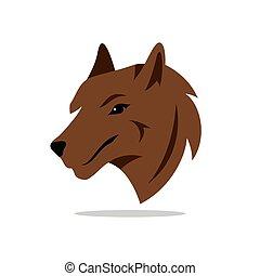cartone animato, vettore, illustration., cane
