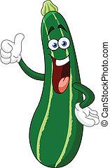 cartone animato, zucchini