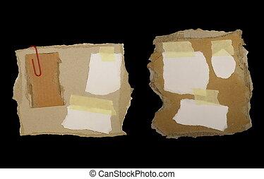 cartone, set, carta, scarto