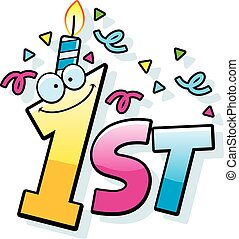 happy 1st birthday illustrations and stock art 165 happy 1st rh canstockphoto co uk Birthday Confetti Clip Art Cartoon Birthday Hat