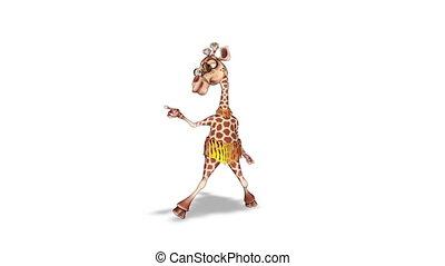 Cartoon 3D Giraffe Dance Loop
