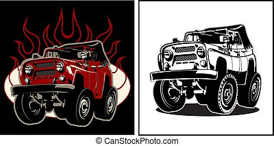 Cartoon 4x4 car