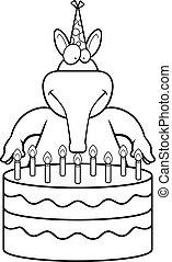 Cartoon Aardvark Birthday