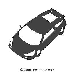 Modern Racing Car Vector Shape