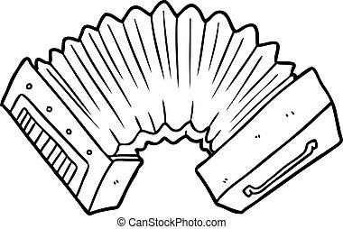 cartoon accordion