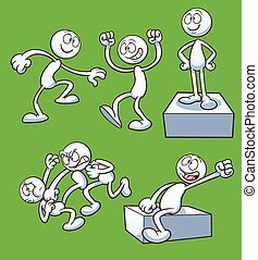 Cartoon actions - Generic cartoon character performing...
