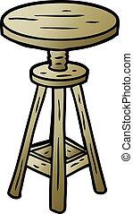 cartoon adjustable artist stool