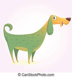 Cartoon afghan hound. Vector illustration of happy dog