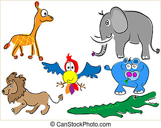 cartoon africa animals