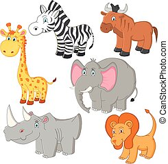 Cartoon african animals vector