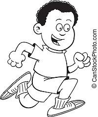 Cartoon African boy running
