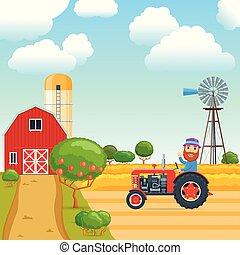 Cartoon agricultural concept 01