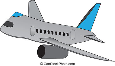 cartoon airliner - cartoon style airliner in a banked turn