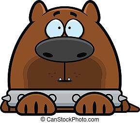 Cartoon Alert Guard Dog