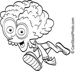 Cartoon alien (coloring book)