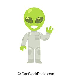 Cartoon alien drawing - Cute cartoon alien drawing. Little...