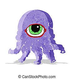 cartoon alien head
