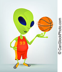 Cartoon Alien