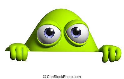 cartoon alien - monster