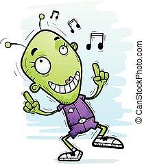 Cartoon Alien Woman Dancing