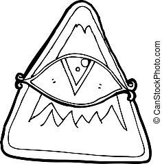cartoon all seeing eye symbol