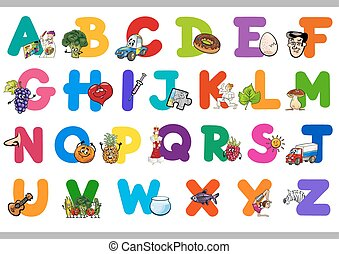 cartoon alphabet for children