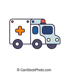 Cartoon ambulance illustration