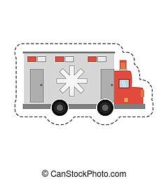 cartoon ambulance transport emergency icon