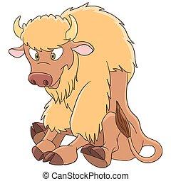 cartoon american bison