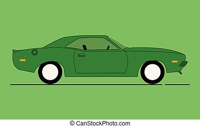 Cartoon American Muscle Car