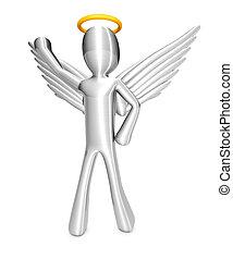 Cartoon Angel - A cartoon angel isolated on white. 3D...