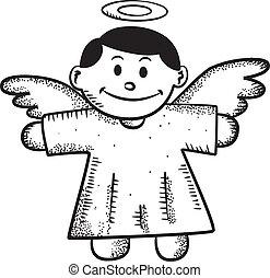 Cartoon angel doodle