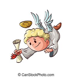 Cartoon angel messenger