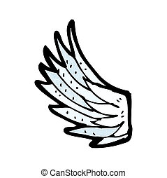 cartoon angel wing