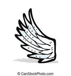 cartoon angel wing