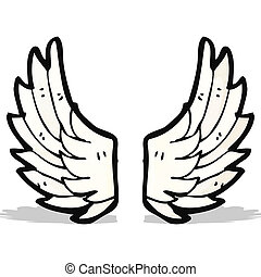 cartoon angel wings