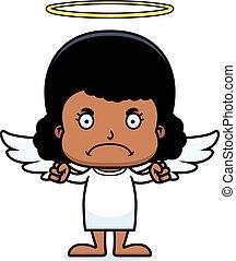 Cartoon Angry Angel Girl