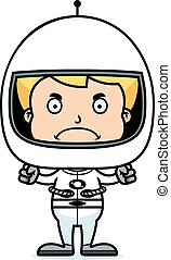 Cartoon Angry Astronaut Boy