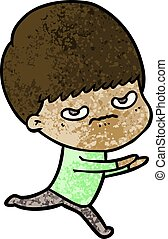 cartoon angry boy