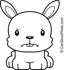 Cartoon Angry Bunny