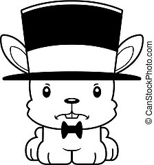 Cartoon Angry Bunny Top Hat