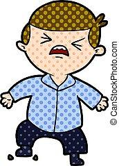 cartoon angry businessman