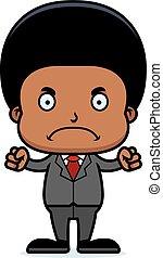 Cartoon Angry Businessperson Boy