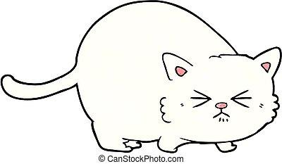 cartoon angry cat