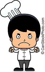 Cartoon Angry Chef Boy