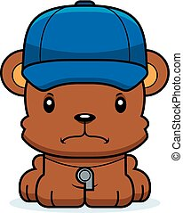 Cartoon Angry Coach Bear - A cartoon coach bear looking...