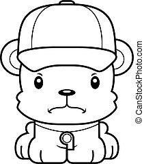Cartoon Angry Coach Bear