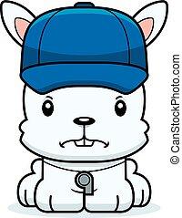Cartoon Angry Coach Bunny