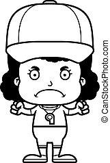 Cartoon Angry Coach Girl